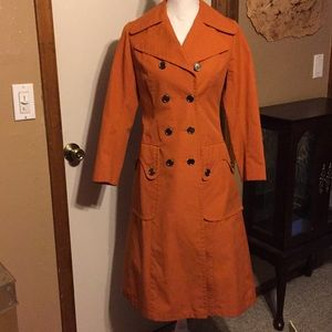 Vintage orange trench coat, 8